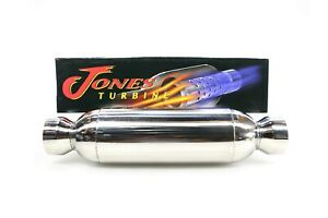 New Jones Performance Turbine Muffler Jt4040xl 4 304 Stainless Steel Universal