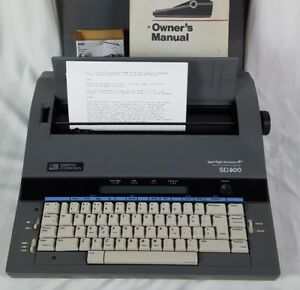 Smith Corona Sd 800 Spell Right Word Processing Electric Typewriter