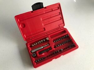 New Snap On 41 Pc Metric Master Screwdriver Bit Set Sdm410