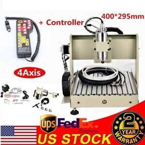 Mach3 Cnc 3040 4axis 800w Milling Router Engraver Wood Carving Machine 3d Cutter