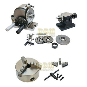 Bs 1 Semi universal Dividing Head Tailstock And 6 3 jaw Chuck