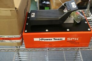 Spx Power Team 10000 Psi Air Pneumatic Hydraulic Foot Pump 1 Gal Metal Reservoir