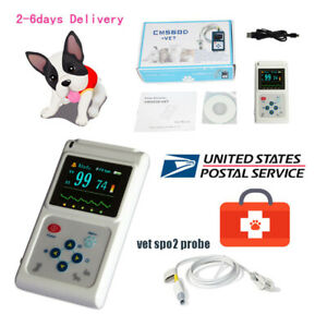 Handheld Veterinary Pulse Oximeter Cms60d vet With Tongue Spo2 Probe pc Software