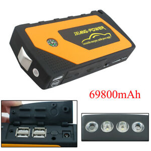 12v Car Jump Starter Booster Jumper Box Power Bank Battery Charger 69800mah Usa
