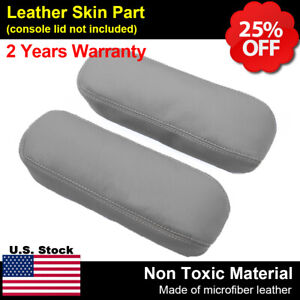 Fits 99 07 Ford F250 F350 Excursion Lariat Leather Seat Armrest Cover Flint Gray