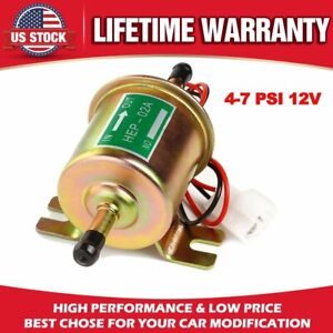 Universal Electric Fuel Pump 4 7 Psi 12v Low Pressure Gas Diesel Inline Hep 02a