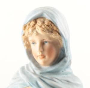 Gorgeous Vintage Bisque Figurine Of A Young Woman