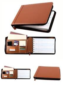 Business Check 7 Ring Binder For 3 up Checks Pu Leather Portfolio Checkbook C
