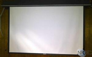 Da lite Motorized 7 x9 Projector Screen Ceiling Recessed In ceiling