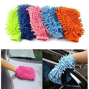 New Car Vehicle Microfiber Soft Hand Towel Coral Chenille Washing Cleaning Glove