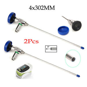2pcs 4x302mm 0 Hysteroscope cystoscope Fit For Storz Endoscope oximeter Ce