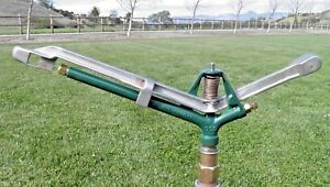 Rare Rebuilt 1950 70 s Rain Bird 808 11 4 Long Throw Brass Impact Sprinkler