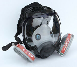 3m 6800 Style Full Face Facepiece Respirator Painting Spraying Dust Gas Mask Set