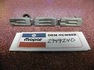 Used Oem Mopar Chrome 1969 1972 Plymouth Gtx Fury Dodge 383 Hood Emblem 2949240