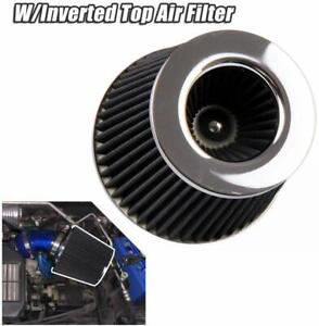 4 Inch Inlet High Flow Short Ram Cold Intake Round Cone Mesh Air Filter
