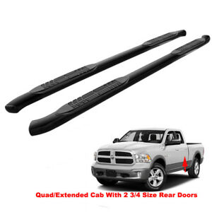 4 Bent Blk Side Nerf Bars Running Boards For 09 18 Dodge Ram 1500 Quad ext Cab