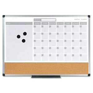 Mastervision 3 in 1 Calendar Planner Dry Erase Board 24 X 18 A 560375046985