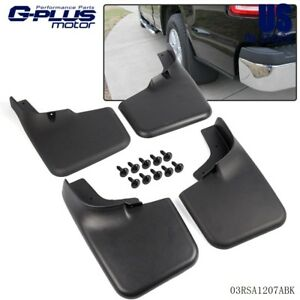 Mud Flaps For 2004 2014 Ford F 150 Molded Splash Guards Black 2005 2006 2007