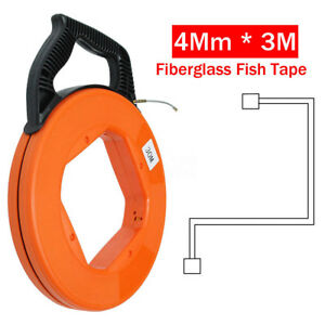 30 M Fiberglass Fish Tape Reel Puller Conduit Ducting Rodder Pulling Wire Cable