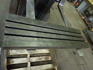 40 X 12 X 2 Steel Weld T slot Table Cast Iron Layout 5 Slot Jig