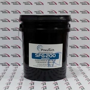 5 Gallons Full Synthetic Food Grade Rotary Air Compressor Oil Leroi