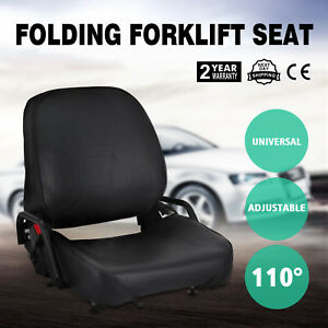 New Universal Folding Forklift Seat Foldable Fits Yale Fits Nissan Newest