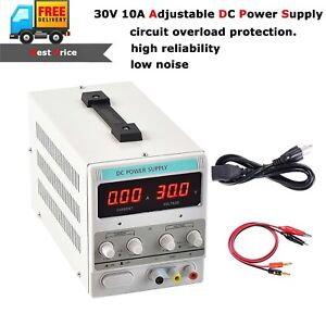 Precision 30v 10a 5a Adjustable Dc Power Supply Variable Dual Digital Lab Test