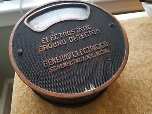 Vintage Meter Electrostatic Ground Detector General Electric And Copmany U s a