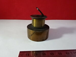 Vintage Brass Antique Bausch Lomb Mirror Microscope Part Optics As Is