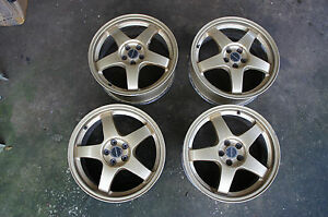 Jdm 17 Rays S201 Subaru Impreza Gc8 Wheels 22b Rs zero 5x100 Sti Forged Sf5