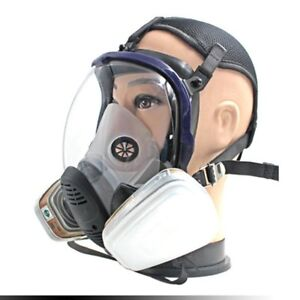 7pcs set Full Face Respirator Gas Mask Chemical Safety Mask With 3m Cartridge Op