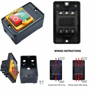 Waterproof Outdoor Switch On Off 380v Stop Start Push Button Single Phase Home
