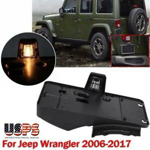 Rear License Plate Mounting Bracket Frame Holder W Light For Jeep Wrangler Jk