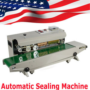 New Horizontal Continuous Plastic Bag Band Sealing Sealer Electronic Machine110v