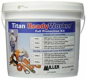 Titan Ll Ready Worker Fall Protection Kit Harness Leg Straps Lanyard Tfpk 1