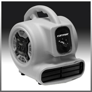 Contair Flow Air Mover Carpet Dryer Blower Floor Fan High Cfm Gfci Plug Gray