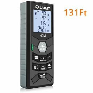 Laser Distance Meter Liumy 131 Ft Rangefinder Lcd Backlit Handheld Measuring