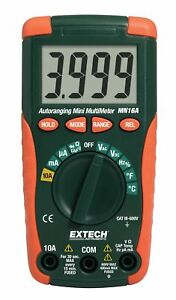 Extech Mn16a Compact Autoranging Multimeter With Advanced Functions
