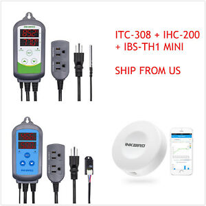Inkbird Wired Temperature Humidity Controller Itc 308 Ihc 200 Data Logger Us