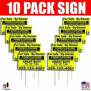 10x For Sale By Owner Signs Your Phone Number Website Real Estate Marketing