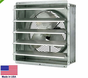 Exhaust Fan Commercial Direct Drive 20 1 4 Hp 115v 1 Spd 3 200 Cfm
