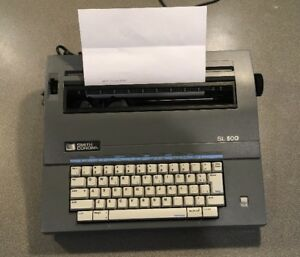 Smith Corona Typewriter Sl500 With Cover Works Perfectly