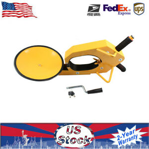Yellow Parking Car Truck Tire Claw Boot Wheel Clamp Trailer Lock Anti Theft New