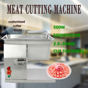 Meat Cutting Machine Meat Slicer Cutter 250kg Output With Two Blades 110v
