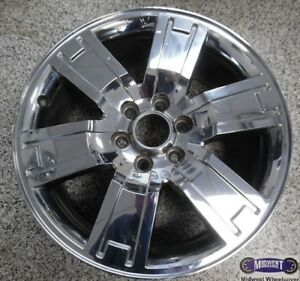 07 09 Ford Used Rim 20x8 1 2 6 Lug 135mm Chrome Clad Alloy 3659