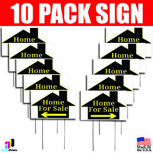 10x Home For Sale Signs Left Right Arrow Double Sided Real Estate Marketing