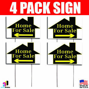 4x Home For Sale Signs Left Right Arrow Your Phone Number Real Estate Marketing