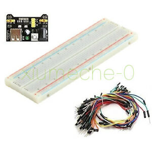 New Mb 102 Solderless Breadboard Protoboard 830 Tie Points 2 Buses Test Circuit