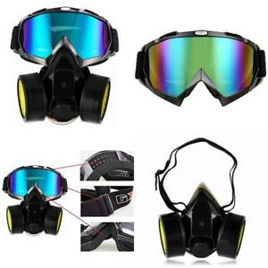 Dust Respirator Mask Gas Air Spray Paint Painting Airsoft Chemical Filter Glass
