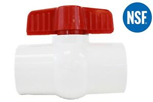 2 Pvc Compact Ball Valve Socket White Schedule 40 Lead Free